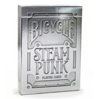 Baraja Poker Steampunk Silver - Bicycle
