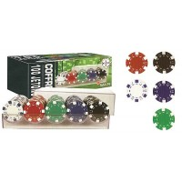 Estuche 100 Fichas Poker Color - Smir