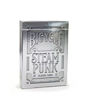 Baraja Poker Steampunk Silver - BicycleRoot