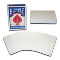 Baraja de cartas blanca por ambos lados - Bicycle